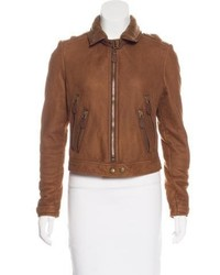 Brit leather shearling jacket medium 6727744