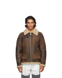 Golden Goose Brown Shearling Arvel Jacket
