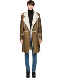 Balmain Brown Shearling Coat