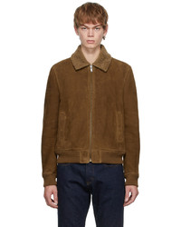 Saint Laurent Brown Shearling Flight Jacket