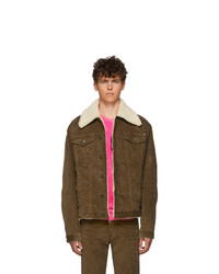 DSQUARED2 Brown Stretch Corduroy Over Jacket