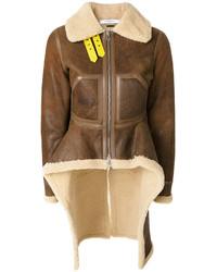 Contrast hem sherling jacket medium 6727755