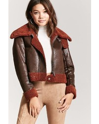 Forever 21 Faux Nubuck Leather Pilot Jacket