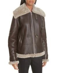 Helmut Lang Genuine Shearling Aviator Jacket