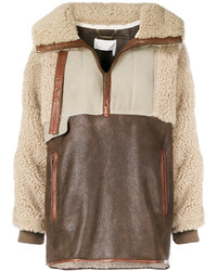 Oversized shearling jacket medium 6727746