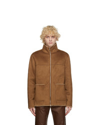 STAND STUDIO Tan Faux Suede Calvin Jacket
