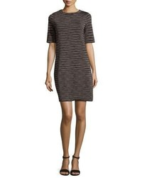 M Missoni Short Sleeve Space Dyed Shift Dress Petal