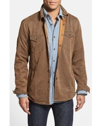 Jeremiah Colt Regular Fit Sueded Cotton Blend Shirt Jacket