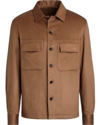 Ermenegildo Zegna Long Sleeve Cashmere Overshirt