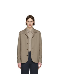 Harris Wharf London Taupe Coolmax Seersucker Jacket