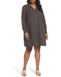 Eileen Fisher Plus Size Classic Collar A Line Shirtdress