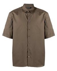 Neil Barrett Sleeve Patches Cotton Shirt