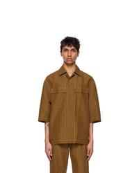 Lemaire Tan Pajama Short Sleeve Shirt