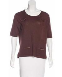 Scoop neck short sleeve sweater medium 6991042