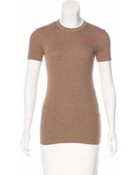 Brunello Cucinelli Short Sleeve Embellished Top