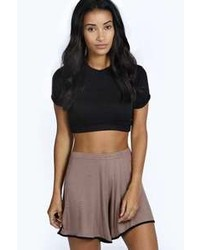 Boohoo Robyn Basketball Style Contrast Runner Shorts