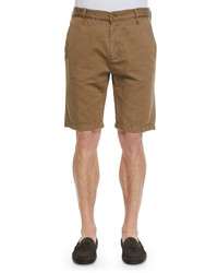 7 For All Mankind Cotton Blend Chino Shorts Khaki