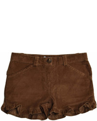 Foque Brown Corduroy Shorts