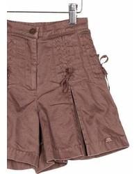 Lili Gaufrette Girls Lace Up Pleated Shorts