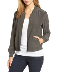 Eileen Fisher Silk Bomber Jacket