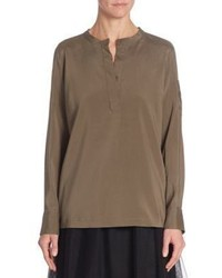 Brunello Cucinelli Silk Henley Top