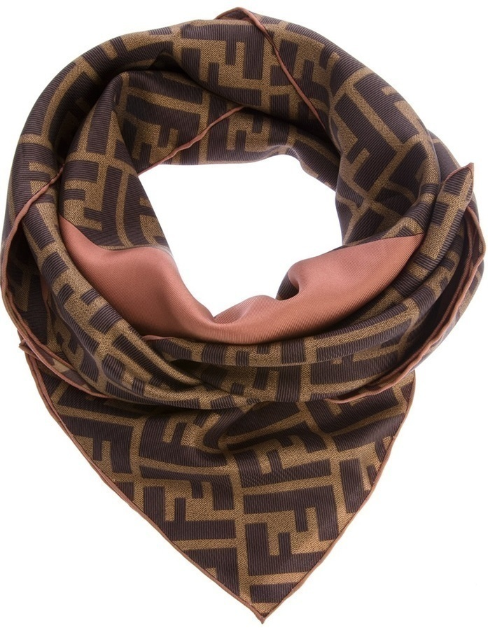 Fendi Silk Printed Scarf