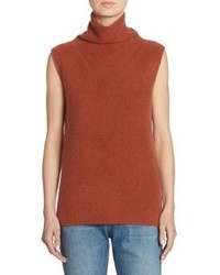 Brown sleeveless turtleneck original 10572757
