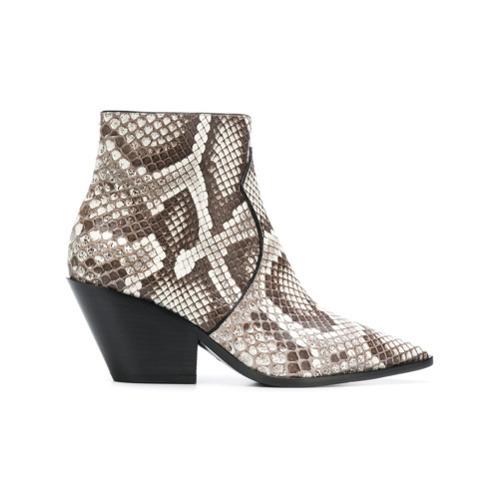 Casadei Cuban Heel Ankle Boots