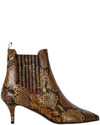 Isabella oliver elia b snake leather ankle boot medium 432210