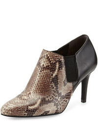 Maxfield natural snake print leather bootie blacksnake print medium 110425