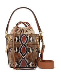 Chloé Roy Mini Snake Effect Leather Bucket Bag