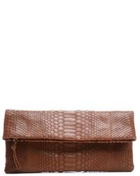 prada python print exotic leathers clutch bag