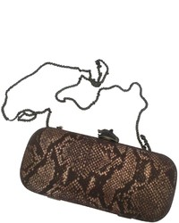 Women\u0026#39;s Brown Snake Leather Clutch from Vestiaire Collective ...