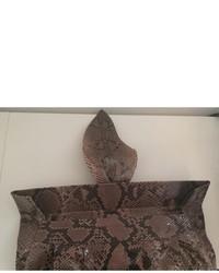Urban Code Urbancode Leather Honey Snake Oversized Clutch Bag ...