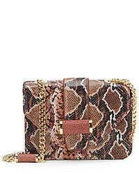 Snake embossed leather small classic shoulder bag medium 309096
