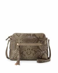 Foley + Corinna Emma Snake Embossed Leather Crossbody Bag Safari Snake