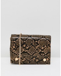 French Connection Faux Snakeskin Envelope Back With Chain Strap