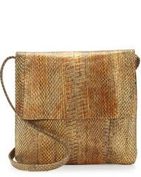 Beirn Jayne Snake Crossbody Bag Gold Distressed