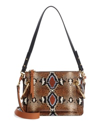 Chloé Small Roy Python Embossed Leather Crossbody Bag