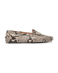 Tod's Gommino Snake Effect Leather Loafers
