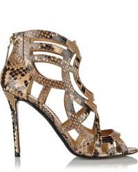 Nicholas Kirkwood Laser Cut Python Sandals