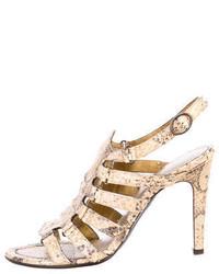 Bottega Veneta Python Sandals