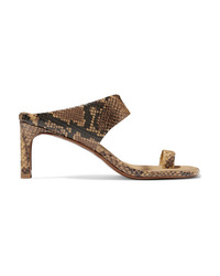 Zimmermann Snake Effect Leather Sandals