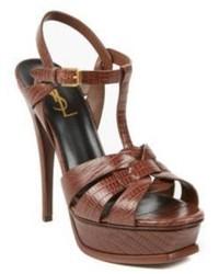 Tribute snake embossed leather sandals medium 325504