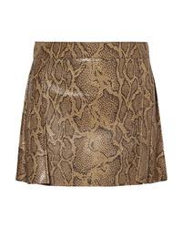 Chloé Snake Effect Leather Mini Skirt