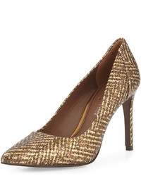 Presli metallic snake embossed pump bronze medium 524355