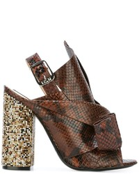 No.21 No21 Snakeskin Effect Sandals