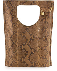 Alix python fold over tote bag medium 426432