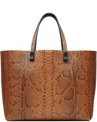 Python leather tote medium 325426