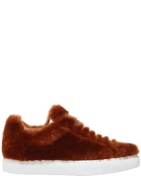 Jil Sander 20mm Merino Fur Sneakers